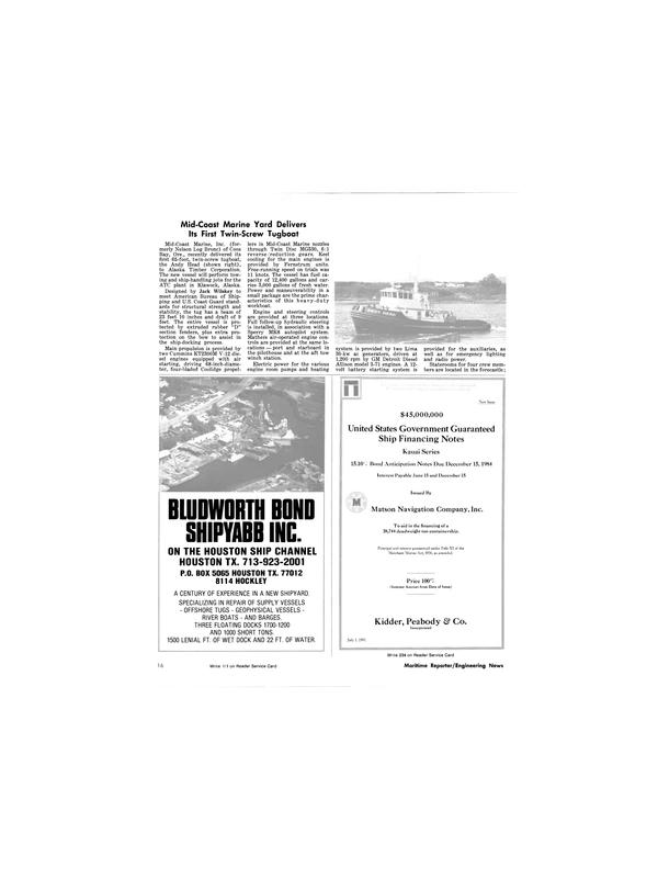 Maritime Reporter Magazine, page 14,  Aug 1981 Jack Wilskey