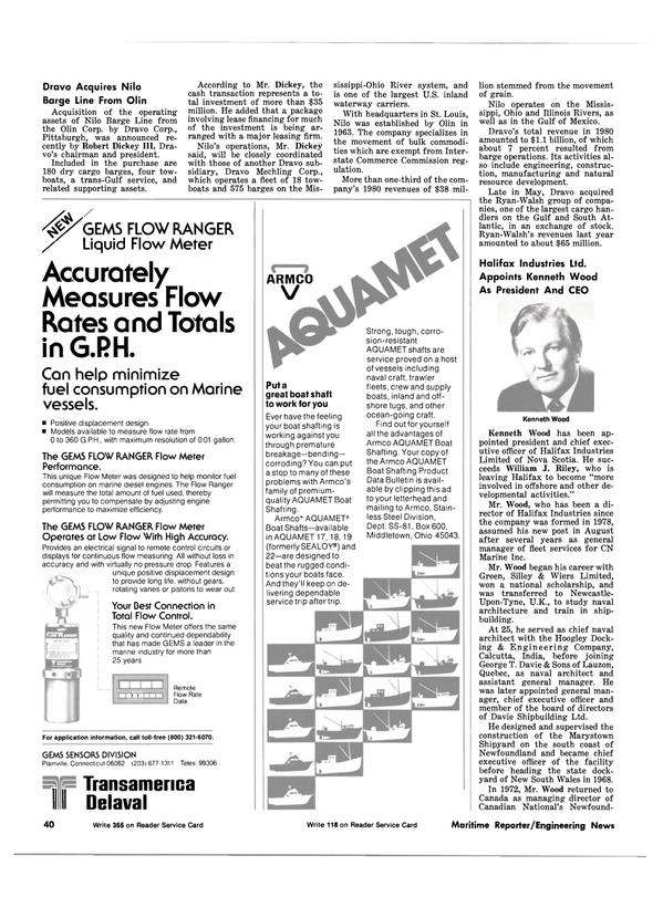 Maritime Reporter Magazine, page 34,  Aug 15, 1981