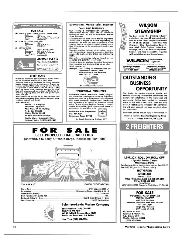 Maritime Reporter Magazine, page 44,  Aug 15, 1981 east coast