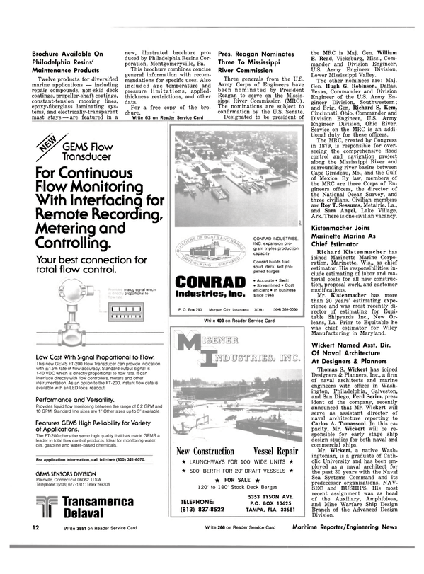Maritime Reporter Magazine, page 10,  Sep 1981 Florida