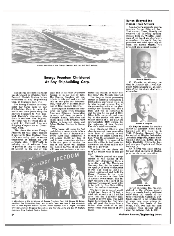 Maritime Reporter Magazine, page 52,  Sep 1981
