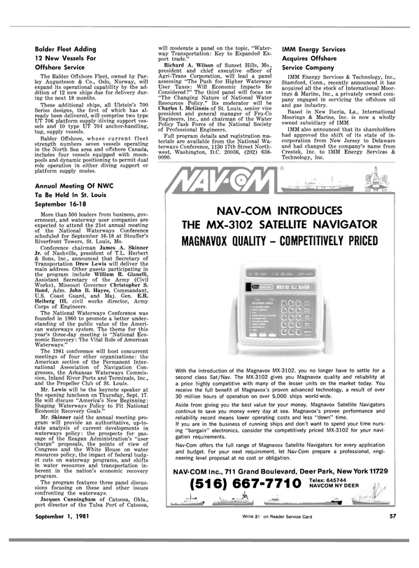 Maritime Reporter Magazine, page 55,  Sep 1981