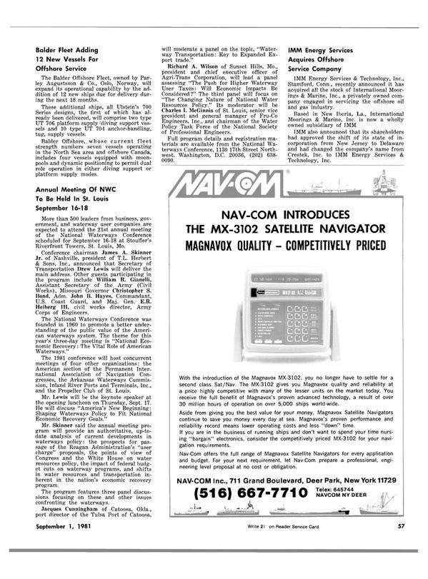 Maritime Reporter Magazine, page 55,  Sep 1981 Oklahoma