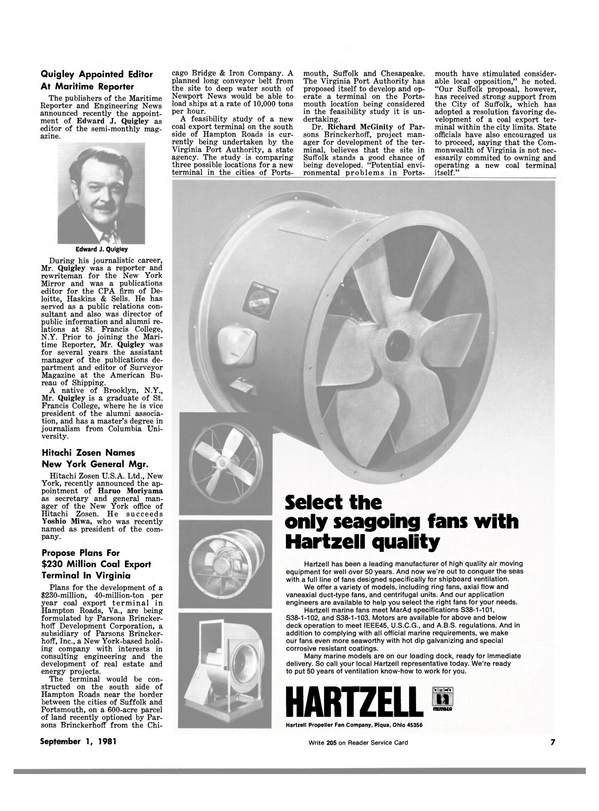 Maritime Reporter Magazine, page 5,  Sep 1981