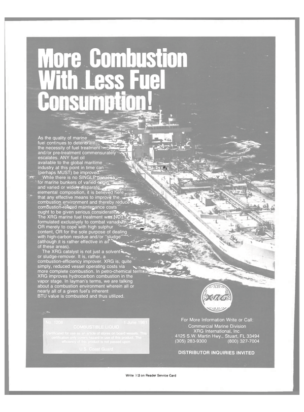 Maritime Reporter Magazine, page 20,  Sep 15, 1981