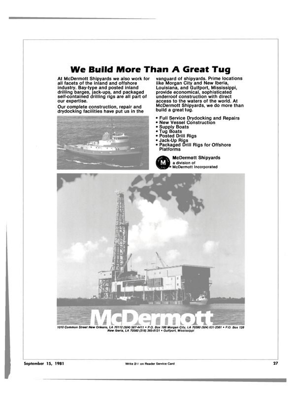 Maritime Reporter Magazine, page 25,  Sep 15, 1981