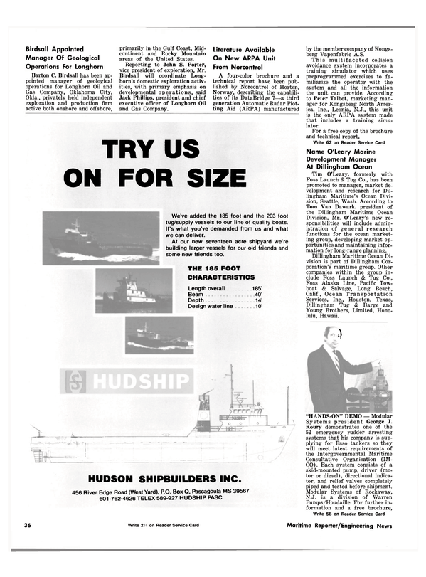Maritime Reporter Magazine, page 34,  Sep 15, 1981
