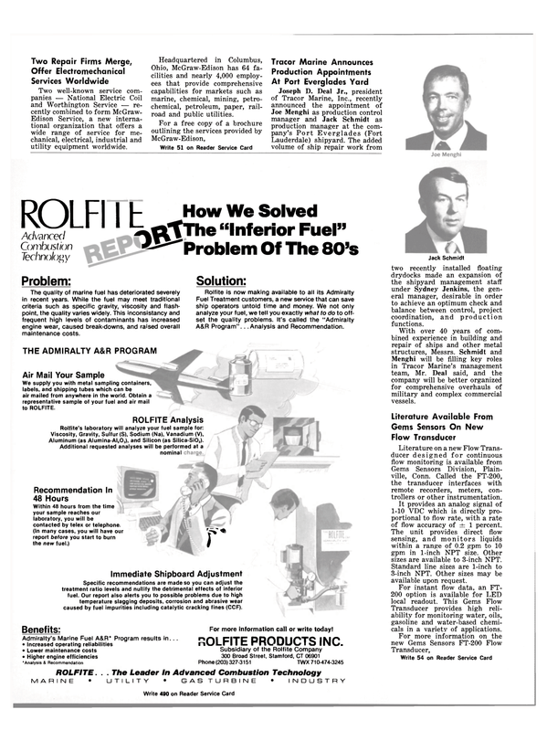 Maritime Reporter Magazine, page 36,  Sep 15, 1981