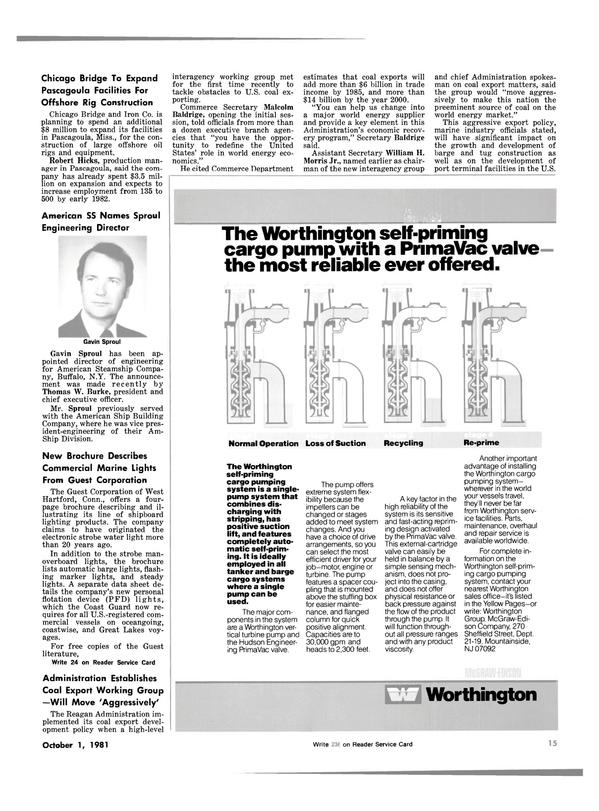 Maritime Reporter Magazine, page 11,  Oct 1981 New York