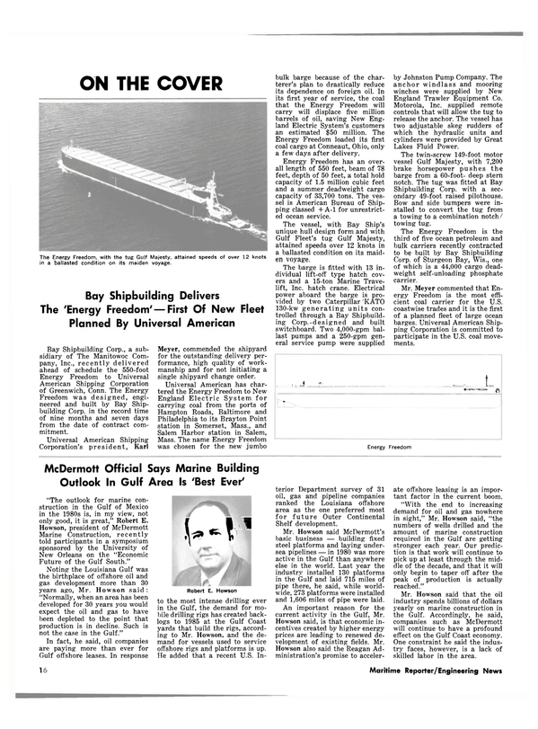 Maritime Reporter Magazine, page 12,  Oct 1981 Louisiana