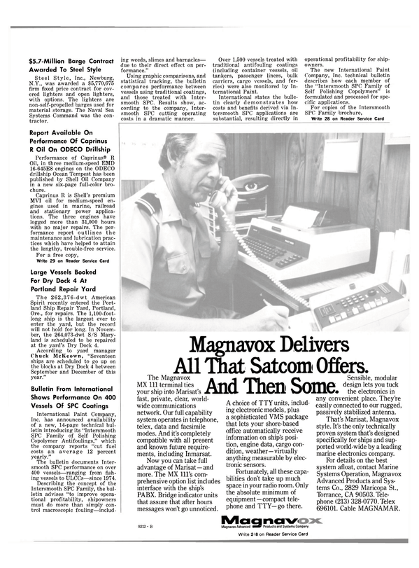 Maritime Reporter Magazine, page 13,  Oct 1981