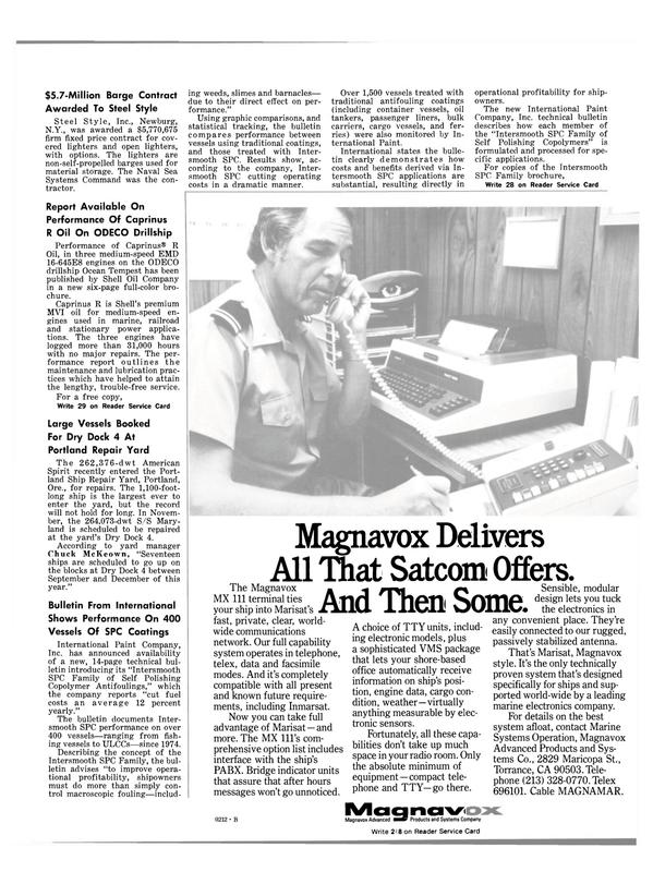 Maritime Reporter Magazine, page 13,  Oct 1981 Self Polishing Copolymer Antifoulings