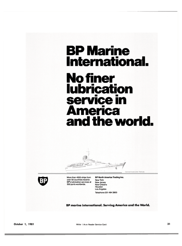Maritime Reporter Magazine, page 27,  Oct 1981 lubrication services