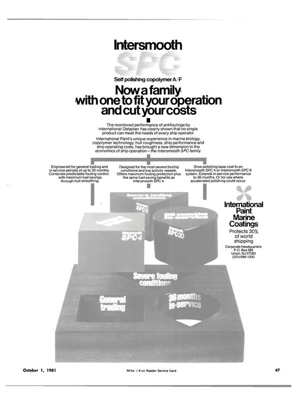 Maritime Reporter Magazine, page 41,  Oct 1981
