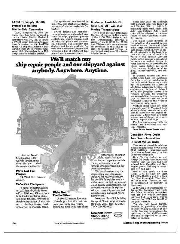 Maritime Reporter Magazine, page 60,  Oct 1981