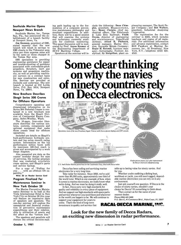 Maritime Reporter Magazine, page 5,  Oct 1981 Bill Pankow