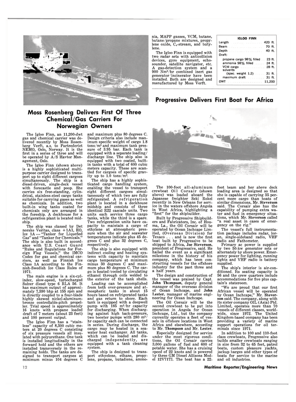 Maritime Reporter Magazine, page 10,  Oct 15, 1981 chemical car