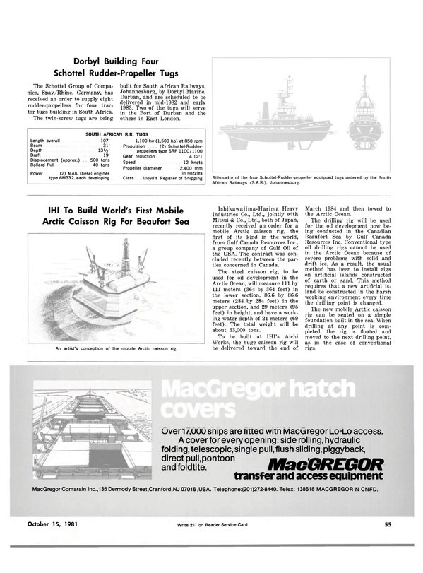 Maritime Reporter Magazine, page 51,  Oct 15, 1981