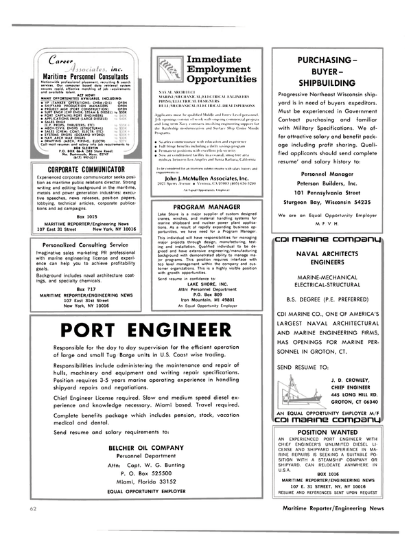 Maritime Reporter Magazine, page 58,  Oct 15, 1981 Wisconsin