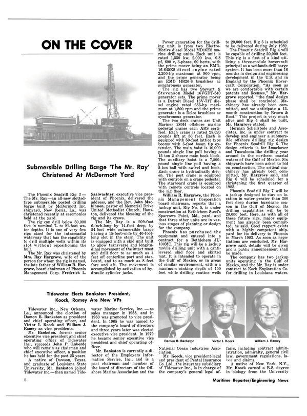 Maritime Reporter Magazine, page 6,  Oct 15, 1981