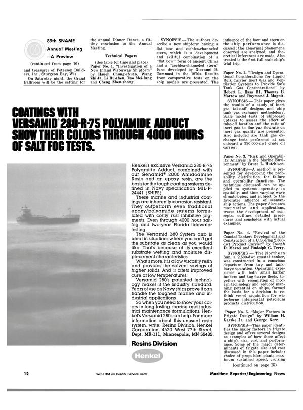 Maritime Reporter Magazine, page 10,  Nov 1981