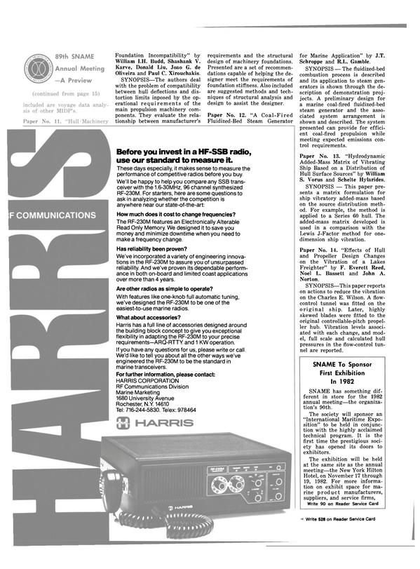 Maritime Reporter Magazine, page 16,  Nov 1981 William S. Vorus