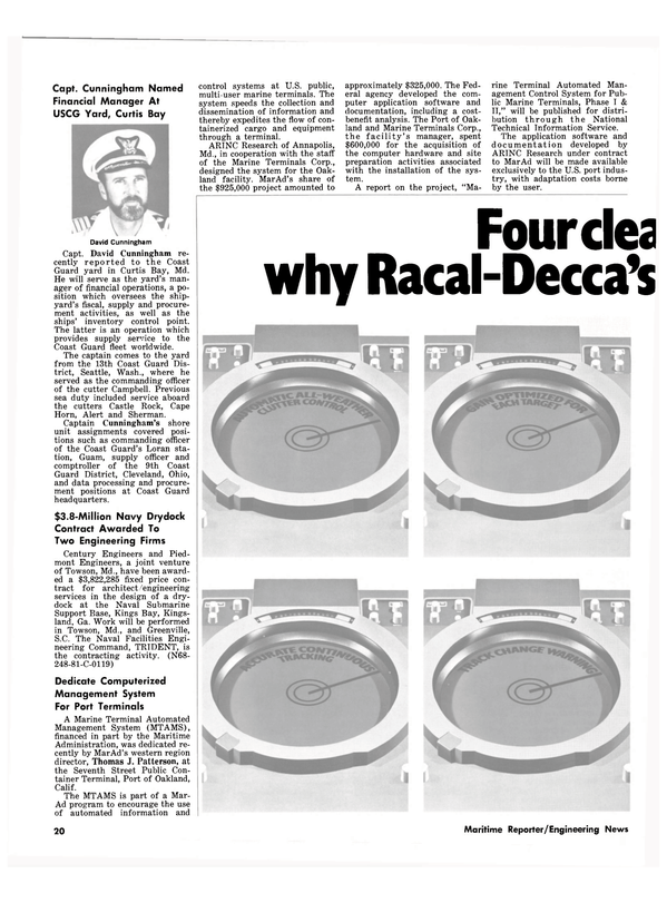 Maritime Reporter Magazine, page 18,  Nov 1981