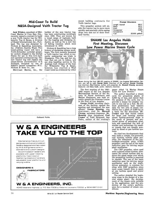 Maritime Reporter Magazine, page 26,  Nov 1981