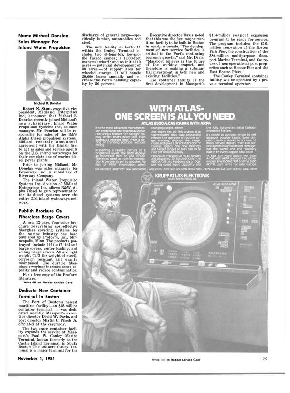 Maritime Reporter Magazine, page 29,  Nov 1981