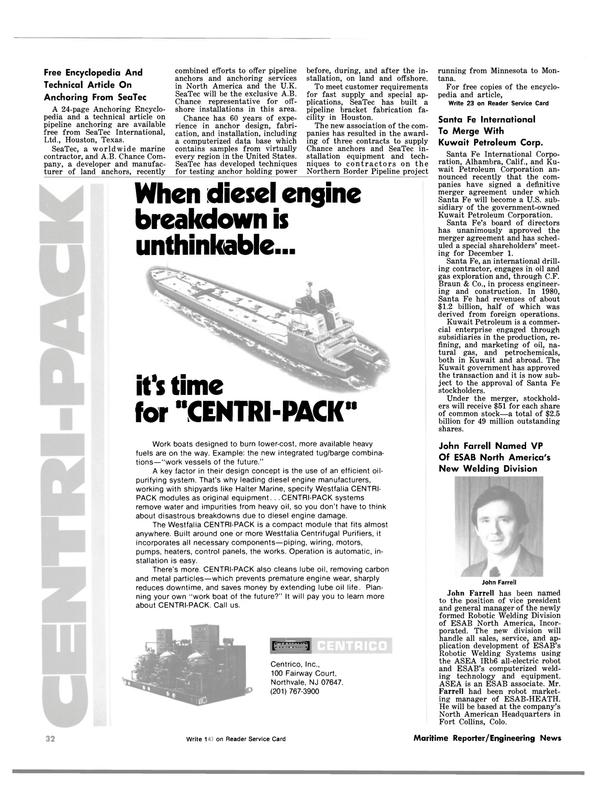 Maritime Reporter Magazine, page 32,  Nov 1981 Minnesota