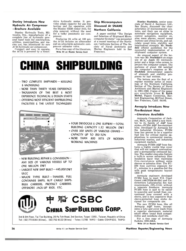 Maritime Reporter Magazine, page 38,  Nov 1981 Oregon