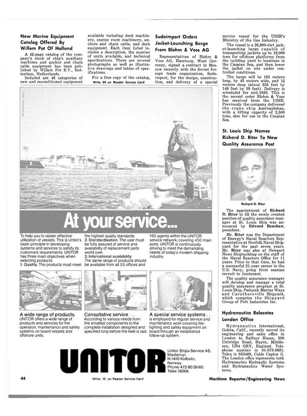 Maritime Reporter Magazine, page 46,  Nov 1981