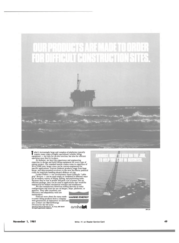 Maritime Reporter Magazine, page 53,  Nov 1981 energy project