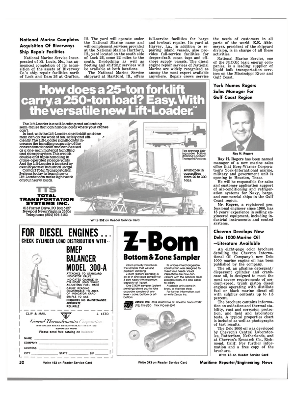 Maritime Reporter Magazine, page 56,  Nov 1981 Mississippi