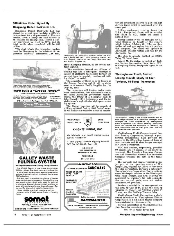 Maritime Reporter Magazine, page 10,  Nov 15, 1981 Options Our Plate Aluminum Hulls