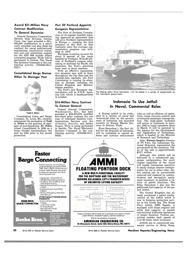 Maritime Reporter Magazine, page 16,  Nov 15, 1981 Connecticut