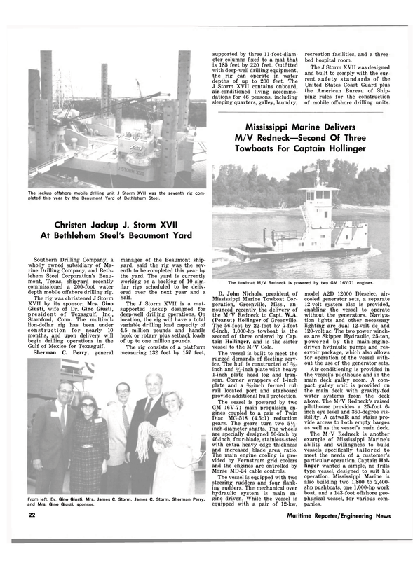 Maritime Reporter Magazine, page 18,  Nov 15, 1981 Mississippi
