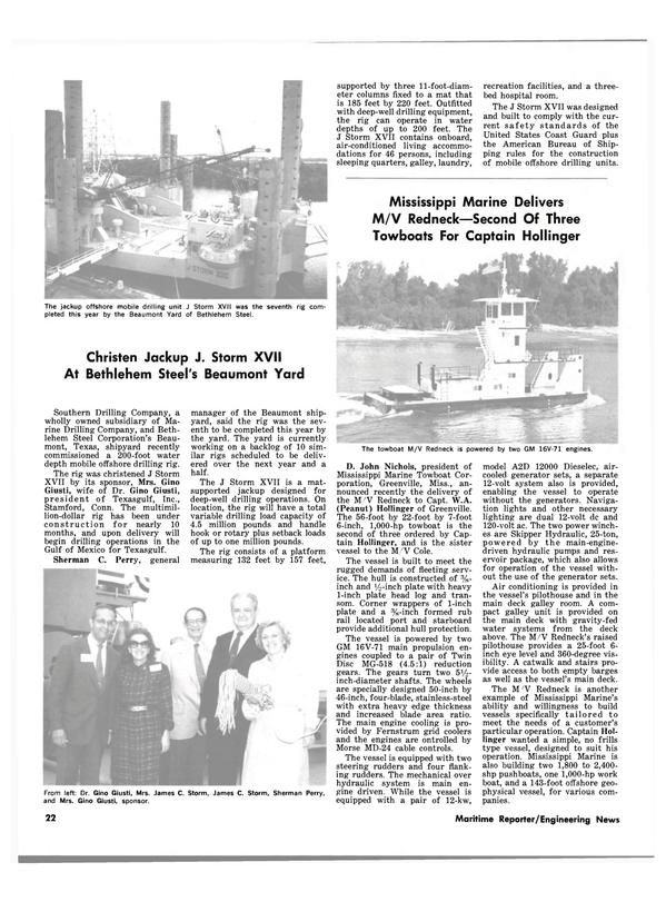 Maritime Reporter Magazine, page 18,  Nov 15, 1981