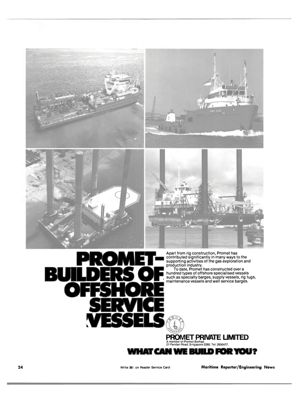 Maritime Reporter Magazine, page 20,  Nov 15, 1981