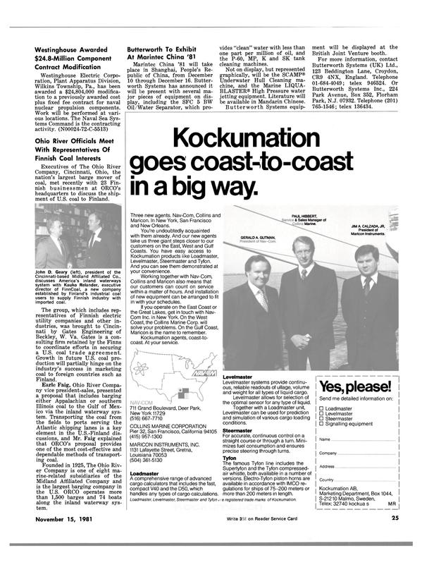 Maritime Reporter Magazine, page 21,  Nov 15, 1981 Gulf coast