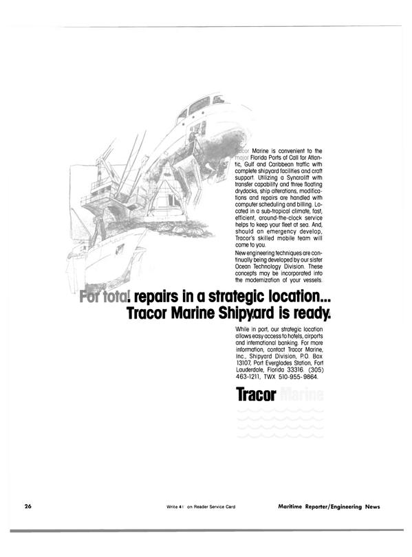 Maritime Reporter Magazine, page 22,  Nov 15, 1981