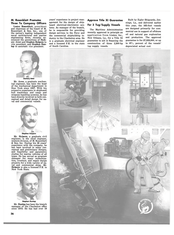 Maritime Reporter Magazine, page 34,  Nov 15, 1981