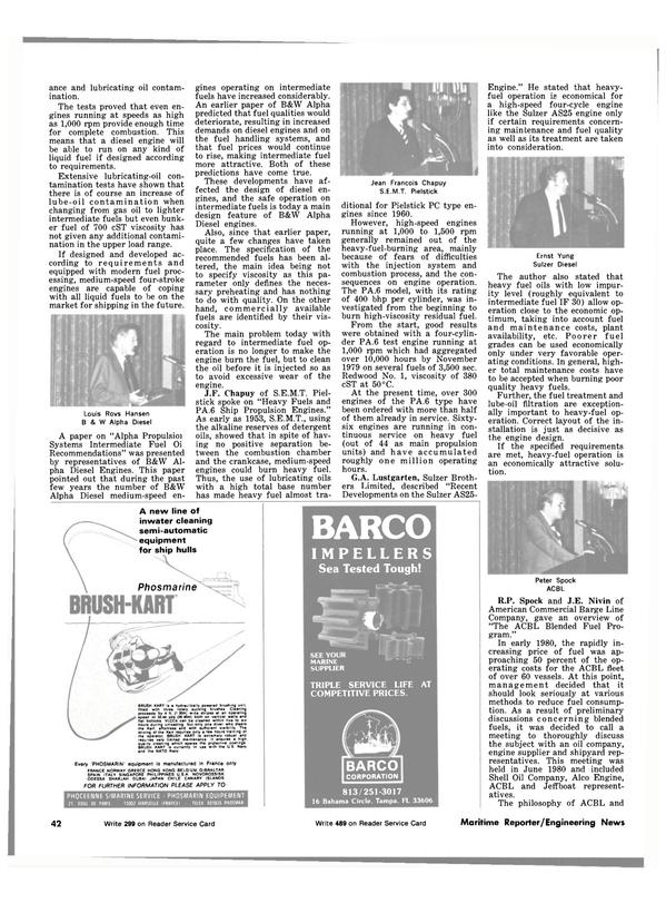 Maritime Reporter Magazine, page 38,  Nov 15, 1981