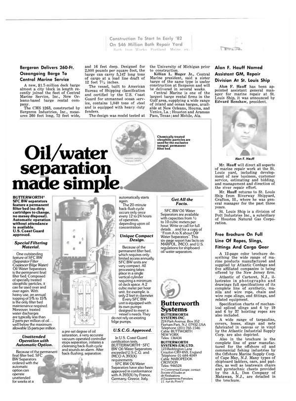 Maritime Reporter Magazine, page 10,  Dec 1981 Texas