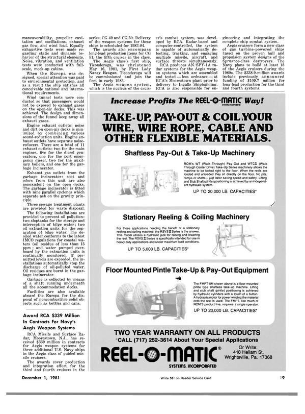 Maritime Reporter Magazine, page 15,  Dec 1981