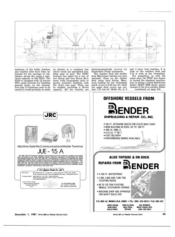 Maritime Reporter Magazine, page 25,  Dec 1981