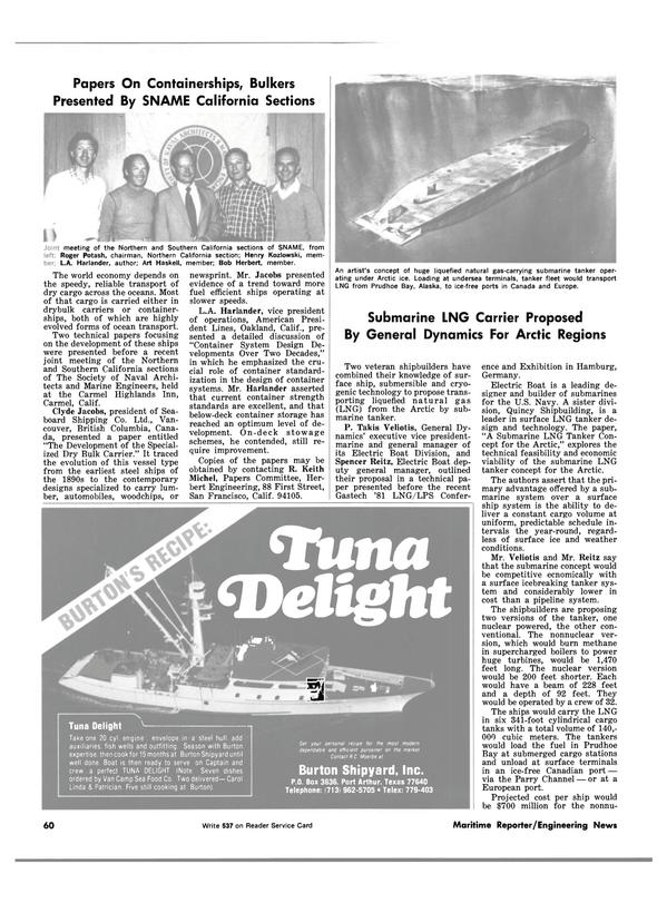 Maritime Reporter Magazine, page 42,  Dec 1981