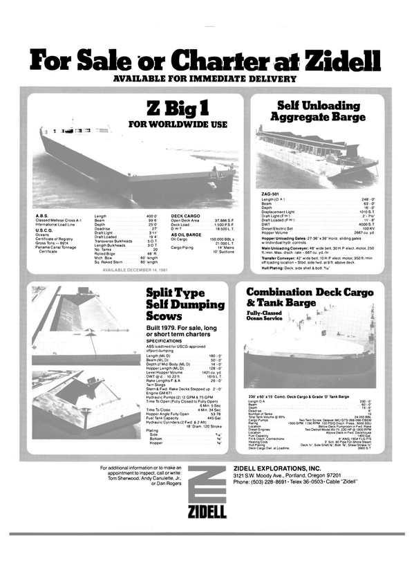 Maritime Reporter Magazine, page 56,  Dec 1981