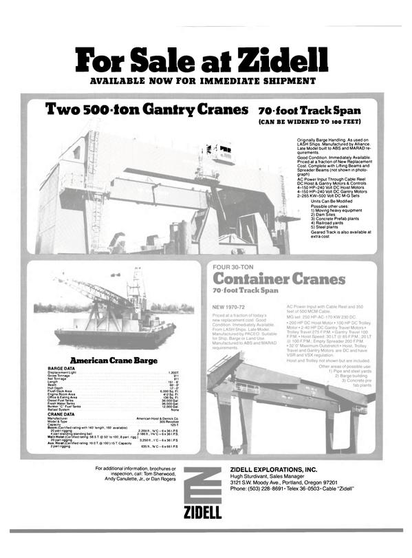 Maritime Reporter Magazine, page 57,  Dec 1981 Tom Sherwood
