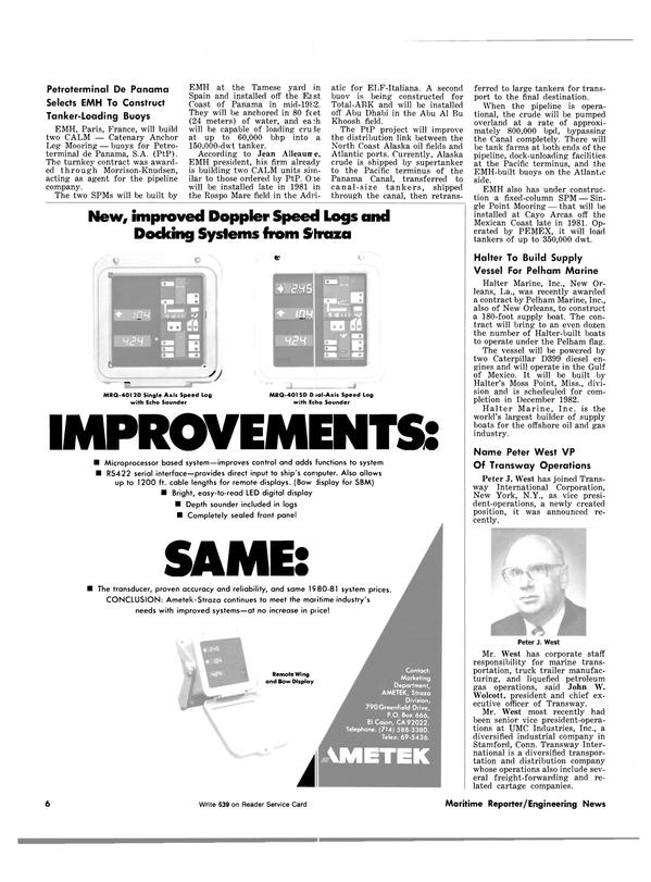 Maritime Reporter Magazine, page 4,  Dec 1981